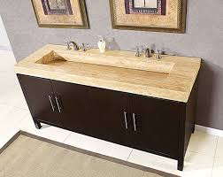 60 double sink vanity chestnut white quartz bathroom with top
