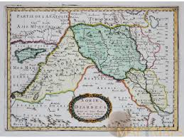 Ancient Near East Map Sorie Et Diarbeck Old Map Ancient Near East Sanson 1656