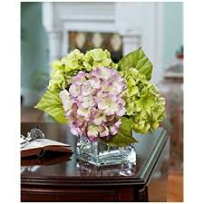 amazon com hydrangea silk flower arrangement lavender blue