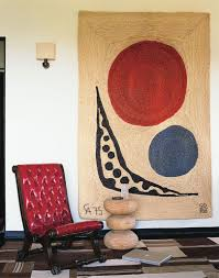 Hanging Rugs On A Wall A Peruvian Grass Wall Hanging By Alexander Calder Plays Off A