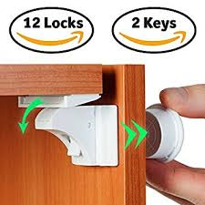 Safety Locks For Kitchen Cabinets Amazon Com Baby Proof Magnetic Cabinet Locks For Child Safety