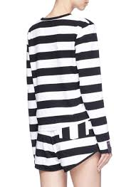 martini stripe the upside u0027martina u0027 stripe long sleeve t shirt in blue lyst