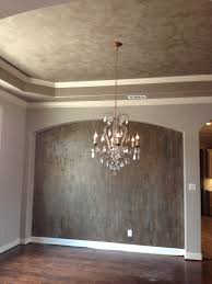 modern masters venetian plaster on walls with gold foil accents