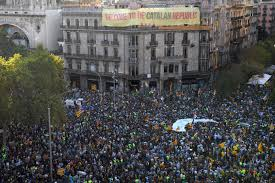 catalan independence demonstrations lead to arrests in spain