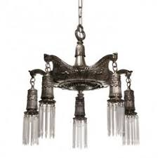 Neoclassical Chandeliers Antique Neoclassical Inverted Dome Chandelier C 1910