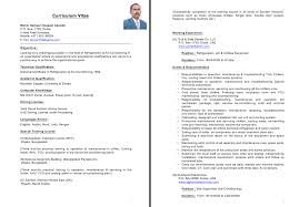 Sample Resume Doc by Refrigeration Engineer Resume Sample Resumedoc
