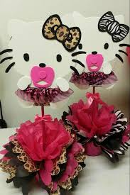 Cheetah Party Decorations Baby Shower Ideas For Cheetah Hello Kitty Hello Kittys