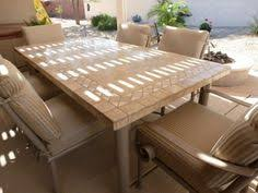 Travertine Patio Table Sedona Onyx Top On Base With Dining Chairs Iron Patio