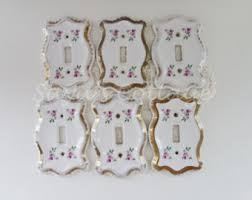 Shabby Chic Light Switch Covers by Porcelain Switch Etsy