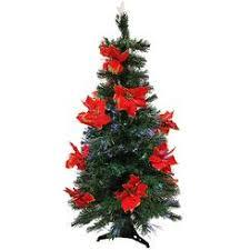 poinsettia tree fiber optic poinsettia tree