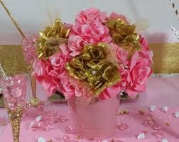 centerpieces for baby shower girl pink flower centerpieces baby shower pail centerpiece for
