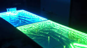 Custom Beer Pong Tables by Led Beer Pong Table Youtube