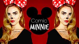 pop art minnie mouse makeup youtube