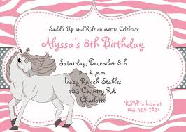 horse birthday invitations plumegiant com