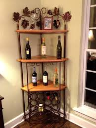 bakers rack with cabinet marvelous corner bakers rack wine ideas kea bakers rack with wine