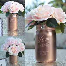 Mason Jars Wedding Centerpieces by Best 25 Rose Gold Centerpiece Ideas On Pinterest Blush Wedding