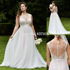aliexpress com buy ivory beach wedding dress with lace appliques