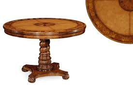 leather top walnut center table 48 inch round pedestal table