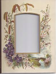 Victorian Photo Album Lovely Floral Chromolithograph From Victorian Album Cdv From