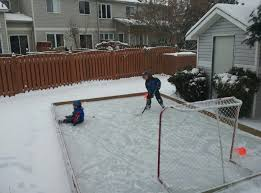 how to build a backyard hockey rink metro news home outdoor