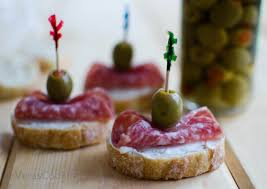 appetizer canape salami canapes vera s cooking
