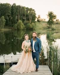 southwest wedding inspiration with a blush wedding dress green