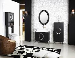 furniture modern black bathroom vanity with white porcelain sink
