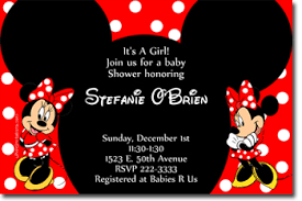 minnie mouse baby shower invitations baby shower invitations design your own baby shower cards do it