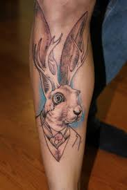 sophisticated jackalope tattoo unfinished the ink underground salem