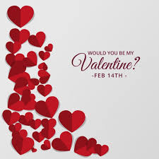 valentines day for day background with hearts in tones vector