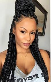 hairstyles plaits black women med size box braids natural hair style braids pinterest box