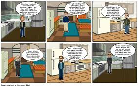 kitchen safety comic strip storyboard by ar3731