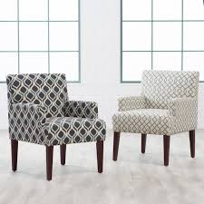 Blue Accent Chair with Living Room Oversized Chair And Ottoman With Blue Print Accent