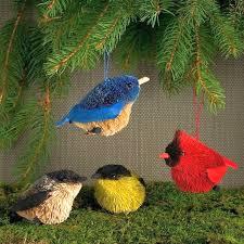 brushart bristle brush songbirds ornament set of 4 brushart buri