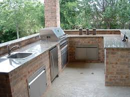 outdoor kitchen countertops ideas kitchen beautiful outdoor kitchen ideas with brick plat form