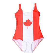 Flag One Piece Swimsuit Canadian Flag Bodysuit U2013 Rave Rebel