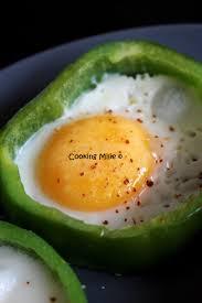 cuisiner le poivron vert oeuf au plat en poivron vert cooking milie