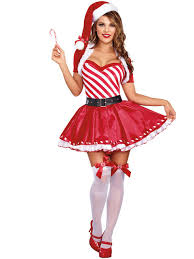womens santa costume womens candy cutie christmas costume l70943 deluxe miss