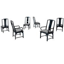 Black Lacquer Dining Room Chairs Black Lacquer Chin Hua Dining Chairs By Century For Sale At 1stdibs