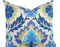 Patio Pillow Covers 15 Off Sale Outdoor Pillow Cover Blue Pillow Brown