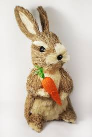 Easter Bunny Village Decorations by Easter Cute Bunny Rabbit Decoration Natural Sisal Fiber Straw