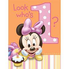 baby minnie mouse 1st birthday minnie mouse 1st birthday invitations