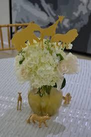 Baby Shower Flower Centerpieces Golden Chic Safari Baby Shower Baby Shower Ideas Themes Games