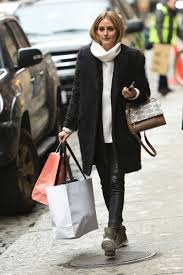 mixed media olivia palermo u0027s cozy knit and leather leggings look