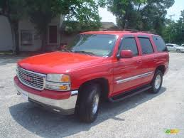 gmc yukon red 2000 fire red gmc yukon slt 4x4 65138319 gtcarlot com car