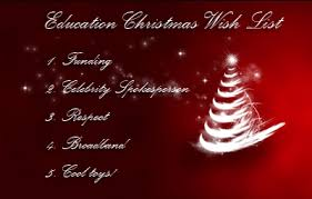 the christmas wish list a christmas wish list for education reform onlineuniversities