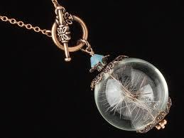 rose glass necklace images Dandelion necklace terrarium necklace dandelion seeds glass orb jpg