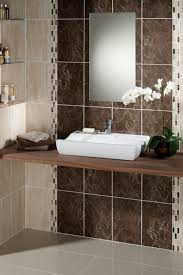 stunning glazing bathroom tile with brown ceramic tiles combined
