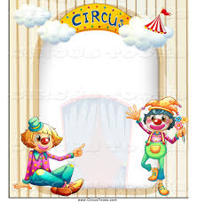 circus clipart of a clown and arch border by graphics rf 1079