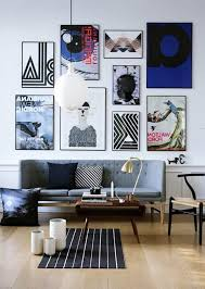 lovable living room wall decor with cool artwork painting also
